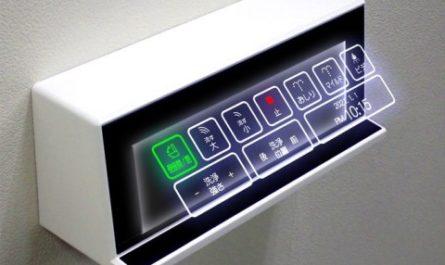 В японских туалетах появятся голографические кнопки