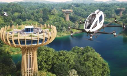 EHang построит в Европе вертипорт в виде баобаба