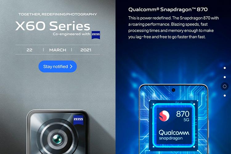 Глобальные версии Vivo X60 и X60 Pro действительно получат чипы Snapdragon 870. Их представят 22 марта