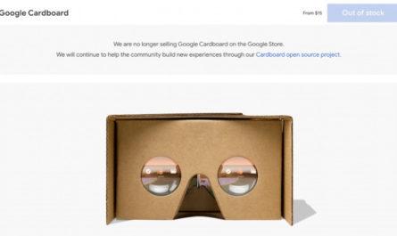 Google прекратила продавать дешёвую картонную VR-гарнитуру Cardboard