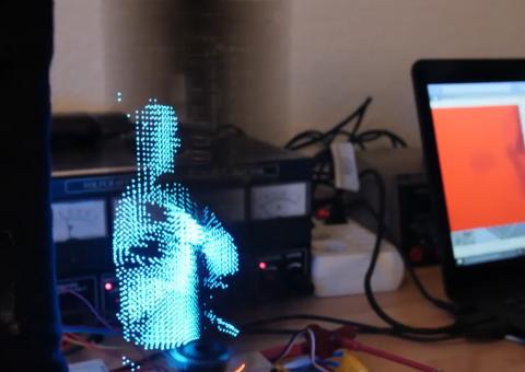 Энтузиаст сделал голографический дисплей в домашних условиях