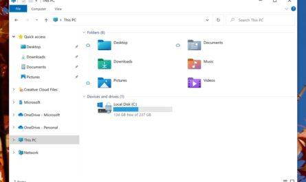 Новый дизайн Windows 10 на инсайдерских скриншотах