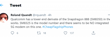 Qualcomm Snapdragon 888 Lite снизит цену Android-флагманов