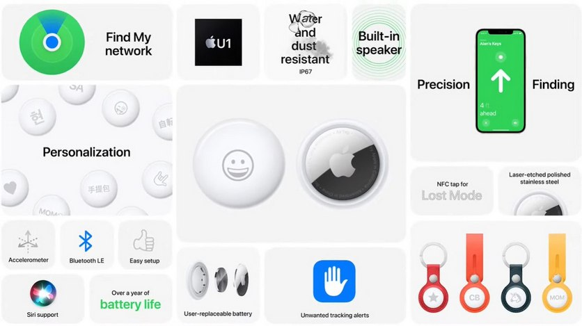 Apple AirTag поможет найти потерянные вещи