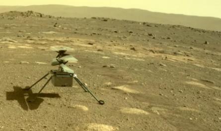 Космический вертолёт Ingenuity на поверхности Марса [ФОТО]