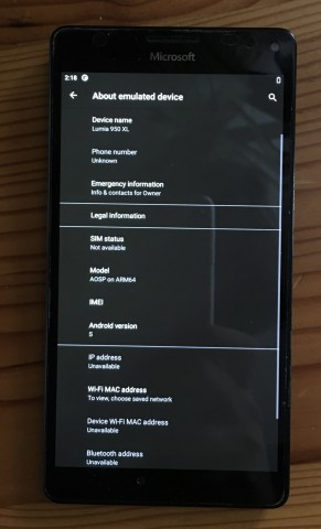 На Lumia 950 XL запустили Android 12 [ВИДЕО]