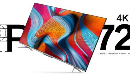 Недорогие телевизоры TCL P725 с 4K-экраном и Android TV уже в России