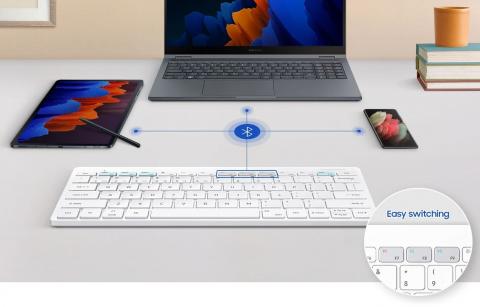 Новая клавиатура Samsung работает с тремя устройствами сразу