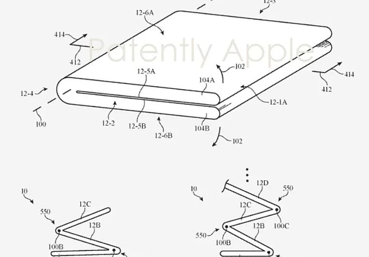 Складной iPhone с безрамочным экраном на патентном изображении