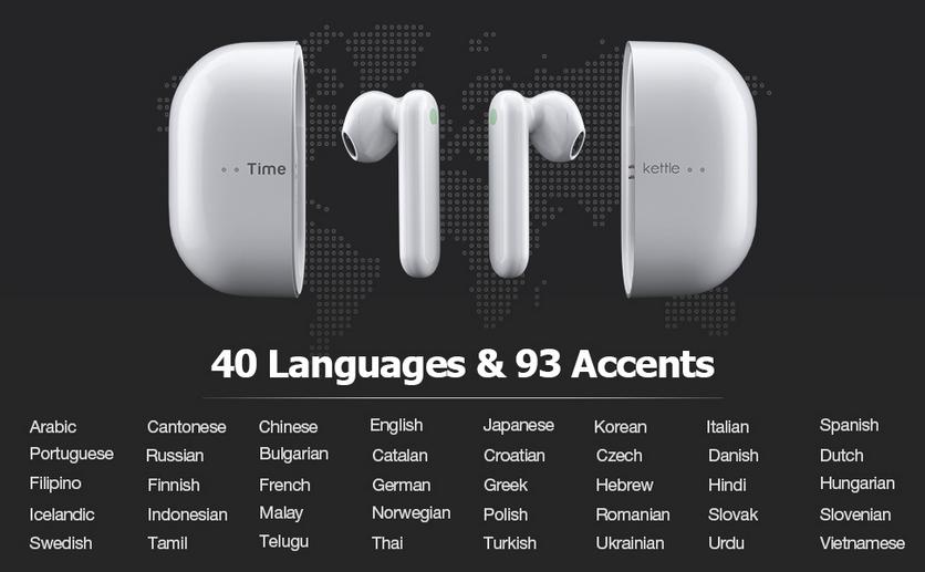 TWS-наушники с переводчиком 40 языков, включая русский