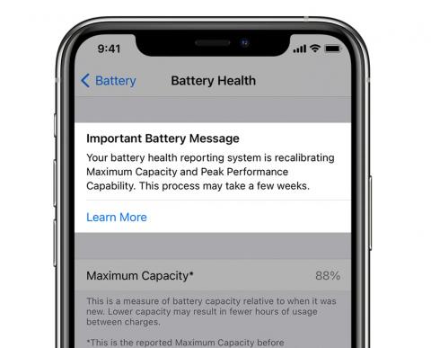 В iOS 14.5 добавлена функция перекалибровки аккумулятора