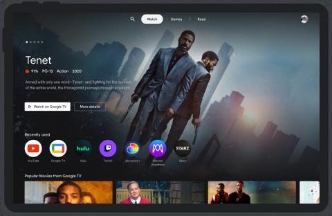 Google перенесла фишки Android TV на планшеты