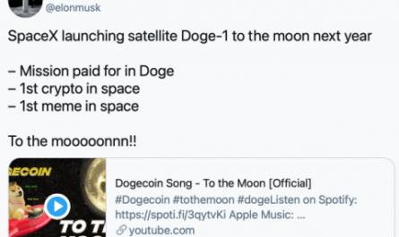 Илон Маск запустит на Луну спутник, финансируемый криптовалютой