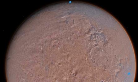 На самой подробной карте Марса можно оставлять сообщения