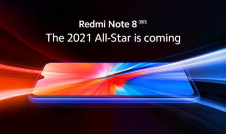 Redmi Note 8 (2021) на первом официальном изображении
