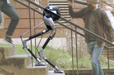Слепой двуногий робот научился ходить по лестницам [ВИДЕО]