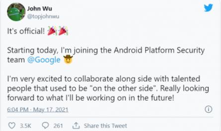 Создатель Magisk устроился на работу в Google