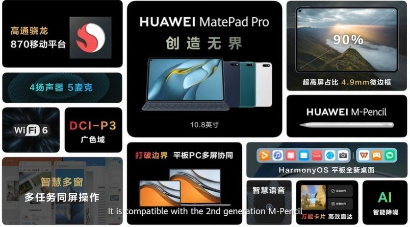 HUAWEI MatePad 11: IPS-экран 120 Гц, Snapdragon 865 и четыре динамика за €399