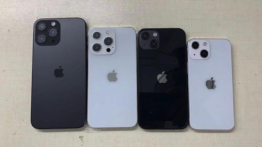 Размеры всех версий iPhone 13 показали на «групповом фото»