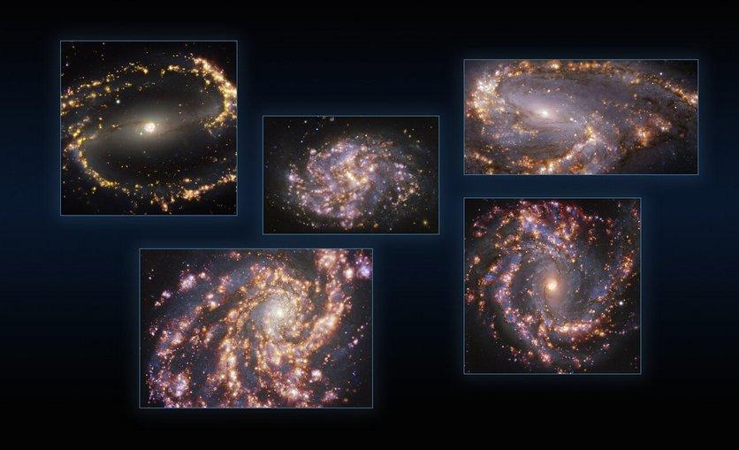 Астрономы показали космические фейерверки из звёзд [ВИДЕО]