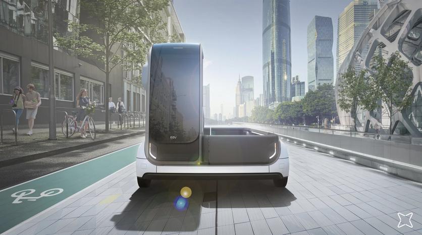 Электрические грузовики EAV могут объединяться в «автопоезд»