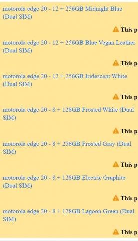 Motorola Edge 20: дата презентации и новые подробности