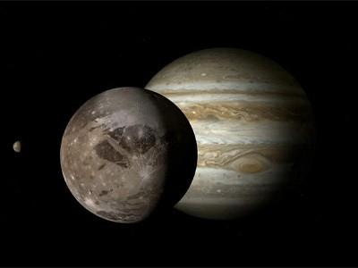 NASA показало облёт Юпитера и его спутника [ВИДЕО]