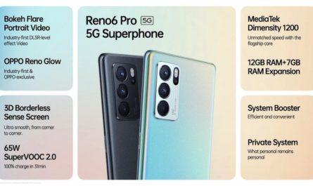 OPPO Reno6 Pro 5G: экран 90 Гц, процессор MTK и скоростная зарядка