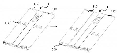 Растягиваемый смартфон Xiaomi на патентных изображениях