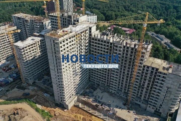 В проблемном ЖК «Терлецкий парк» еще на одном блоке в корпусе №2 возведены все жилые этажи