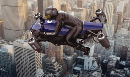 Первый летающий мотоцикл сможет разгоняться до 402 км/ч
