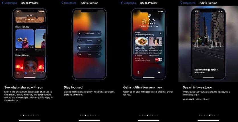 Apple рассказала о главных особенностях iOS 15