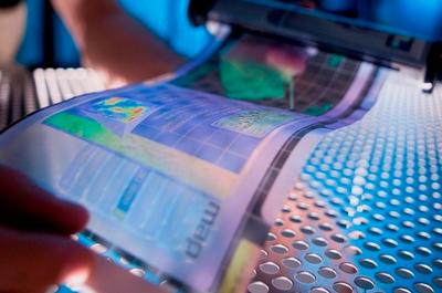 Растягиваемый дисплей Samsung превращает 2D в 3D [ВИДЕО]