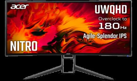 Acer Nitro XR343CKP с 180-герцевым экраном диагональю 34 дюйма представлен в России