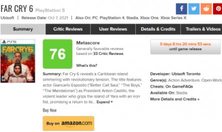 Надоело. Критики не очень высоко оценили Far Cry 6