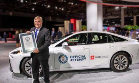 Водородный Toyota Mirai установил мировой рекорд автономности