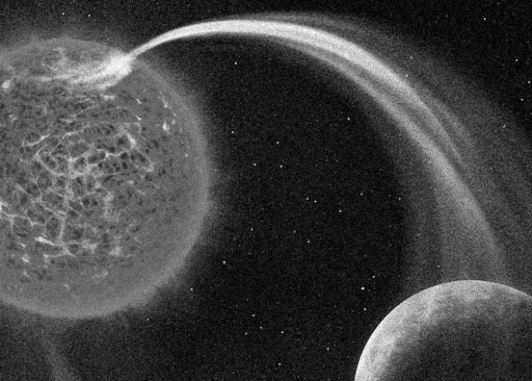 Астрономы впервые зафиксировали у звезды вызванные экзопланетой полярные сияния