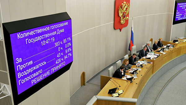 Госдума одобрила закон о поправке в Конституцию