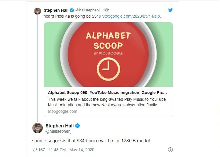 Google Pixel 4a может оказаться намного дешевле, чем его главный конкурент