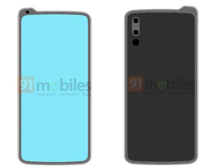 Lenovo запатентовала смартфон с «вырезом наоборот»