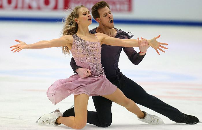 Фигуристы Синицына и Кацалапов стали чемпионами Европы в танцах