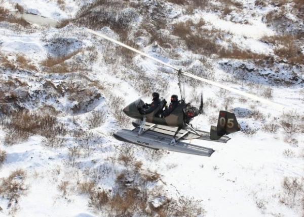 Китайцы провели зимние испытания автожира-амфибии